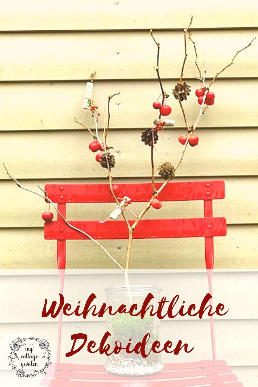Weihnachtliche Deko Ideen Mit Apfeln Und Zierapfeln Weihnachtsdeko Im Garten Weihnachtlich Geschmuckt Deko Ideen