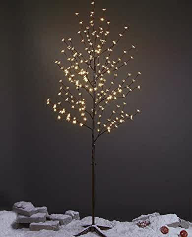 White Led Blossom Tree With Brown Base Hobby Lobby 1040773 Blossom Trees Faux Tree White Lead