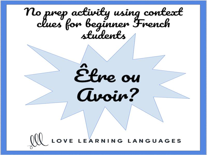 Tre Avoir French Verbs Worksheet Or Quiz Present Tense French