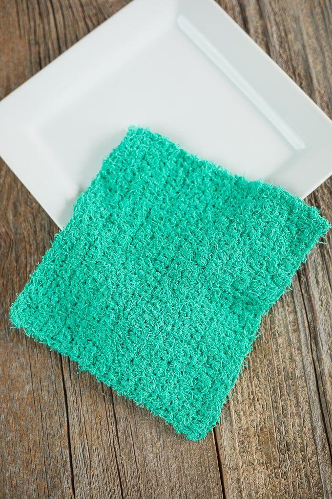 Simple Crochet Scrubby Dishcloth Pattern Simple Crochet Crochet