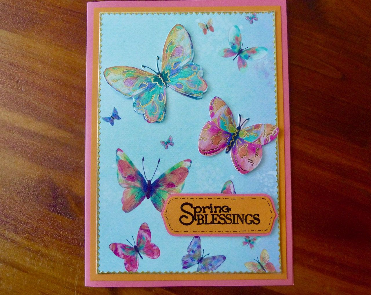 Friendship Card Making Ideas Part - 49: Bright Spring Friendship Card, Handmade Encouragement Card, All Occasion  Card, Thinking Of You, Spring Blessings, Paper Handmade Greeting