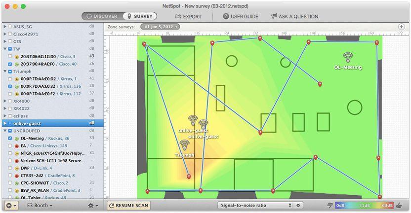 Pin by NetSpot on WiFi surveys | Network monitor, Wifi, Map Wifi Network Map on