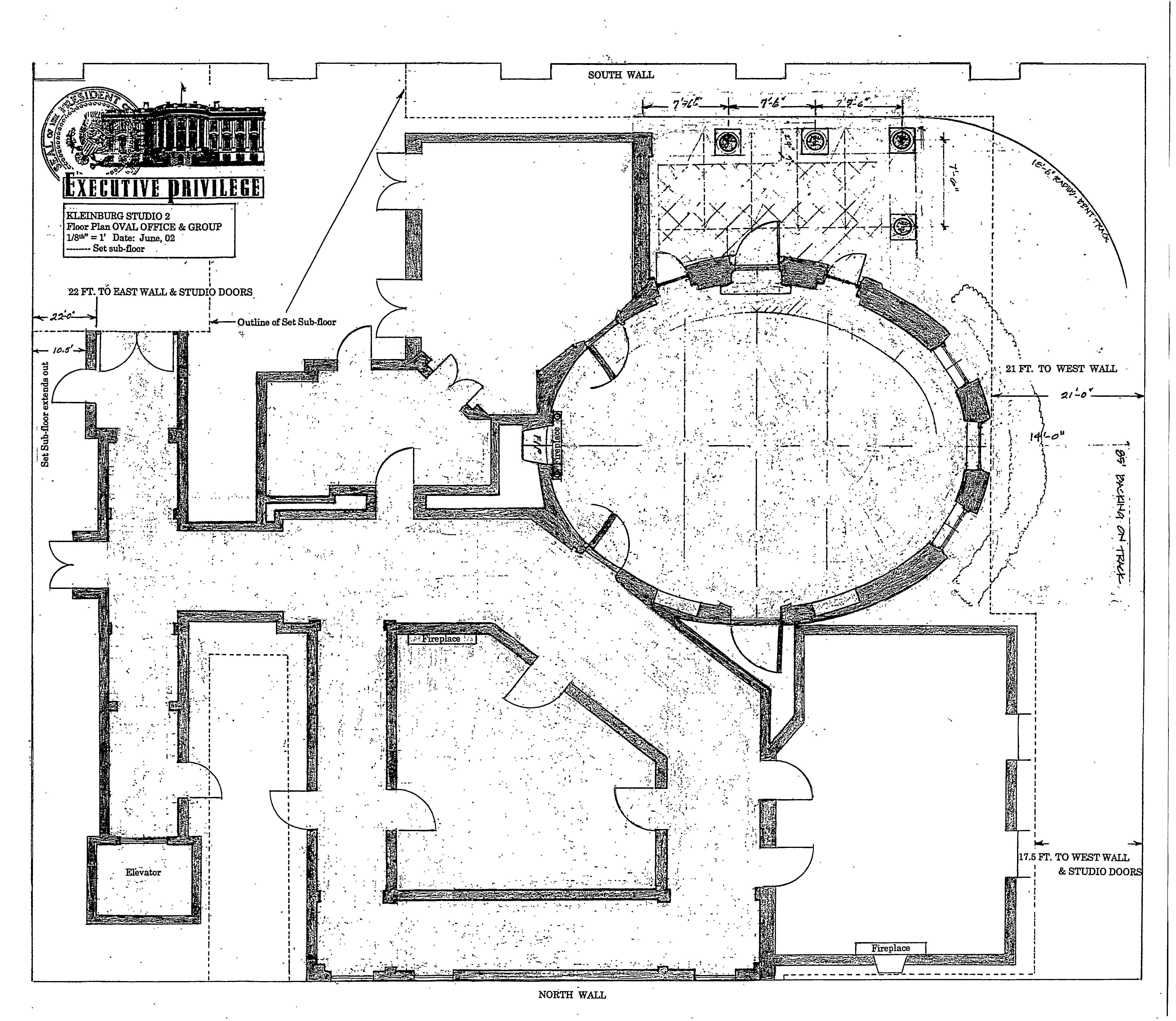 Oval Office Floor Plan