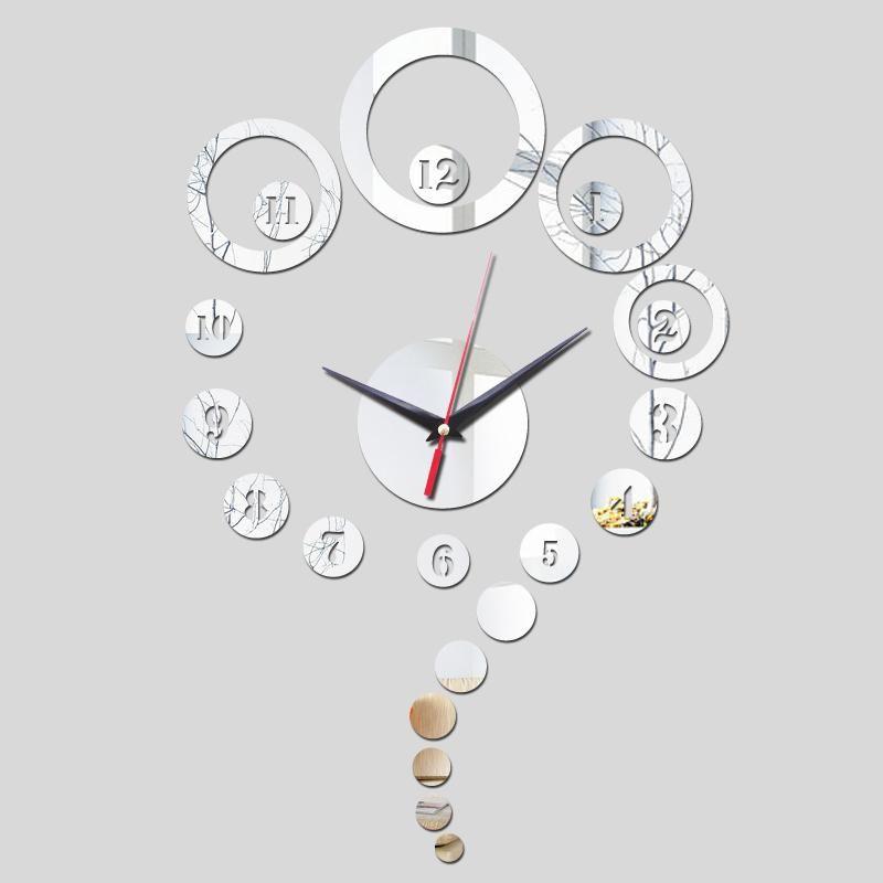 Direct Selling Fashion Acrylic Wall Quartz Clock Modern Design Living Room Luxury Mirror 3d Crystal Clocks In 2020 Luxury Mirror Clock Mirror Wall Clock