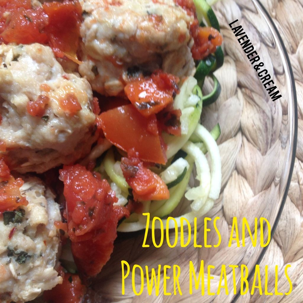 Zoodles and Power Meatballs