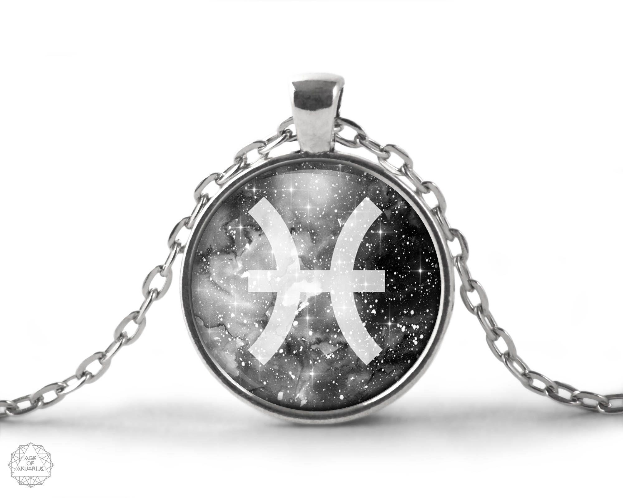 Pisces zodiac pendant necklace pisces necklace zodiac necklace