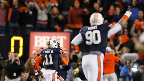 Auburn stuns Bama with final-play FG return  Holy mother of god! This was amazing!