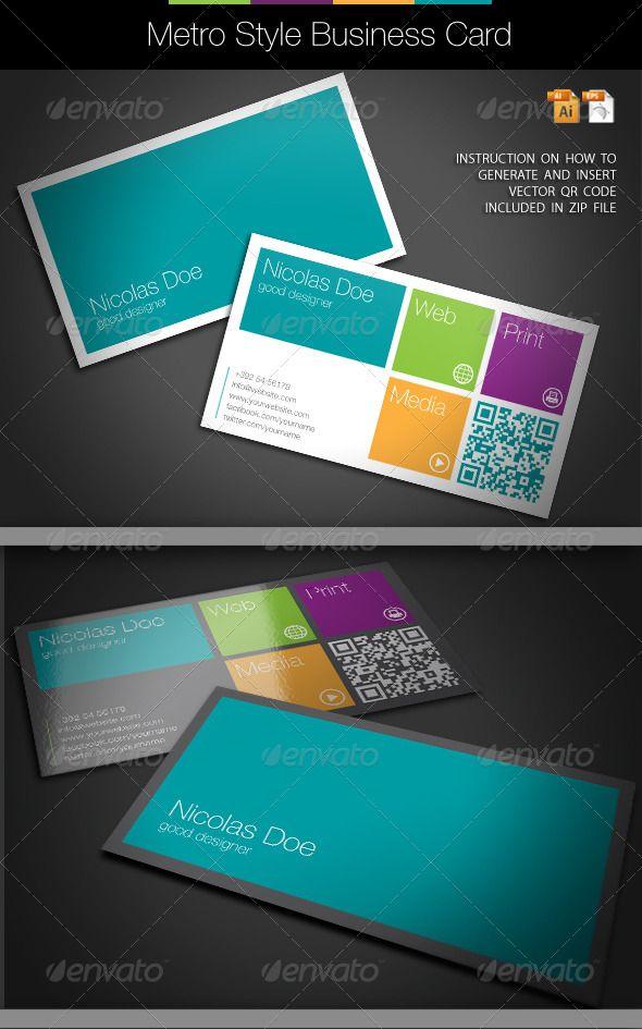 20 Flat Style Business Card Examples Carte De VisiteCartesCartes