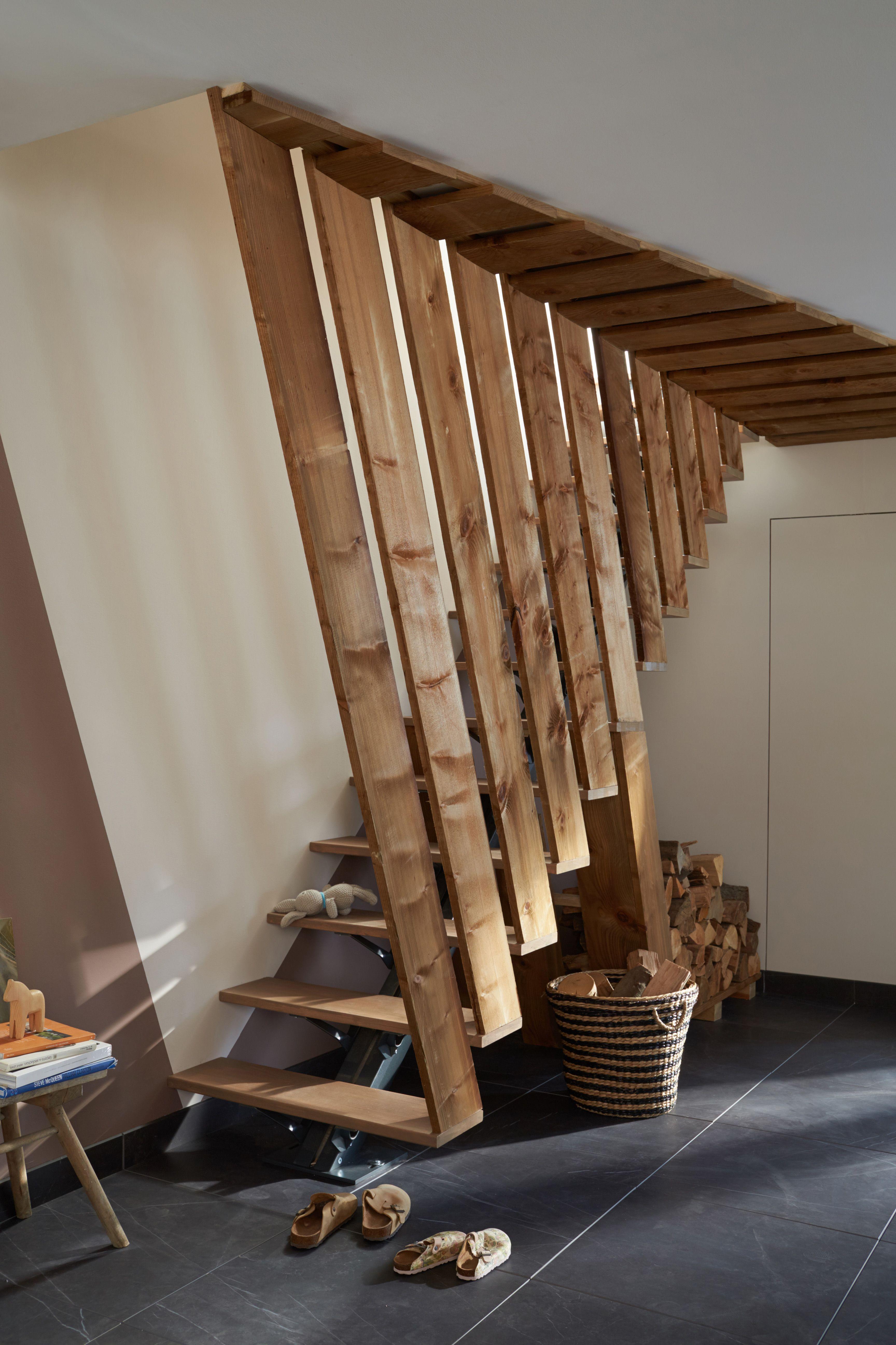 Idées d'aménagement avec les tasseaux | Escalier, Décoration industrielle salon, Déco salon ...