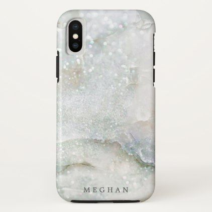 pearl marble glitter monogram Case-Mate iPhone case | Zazzle.com