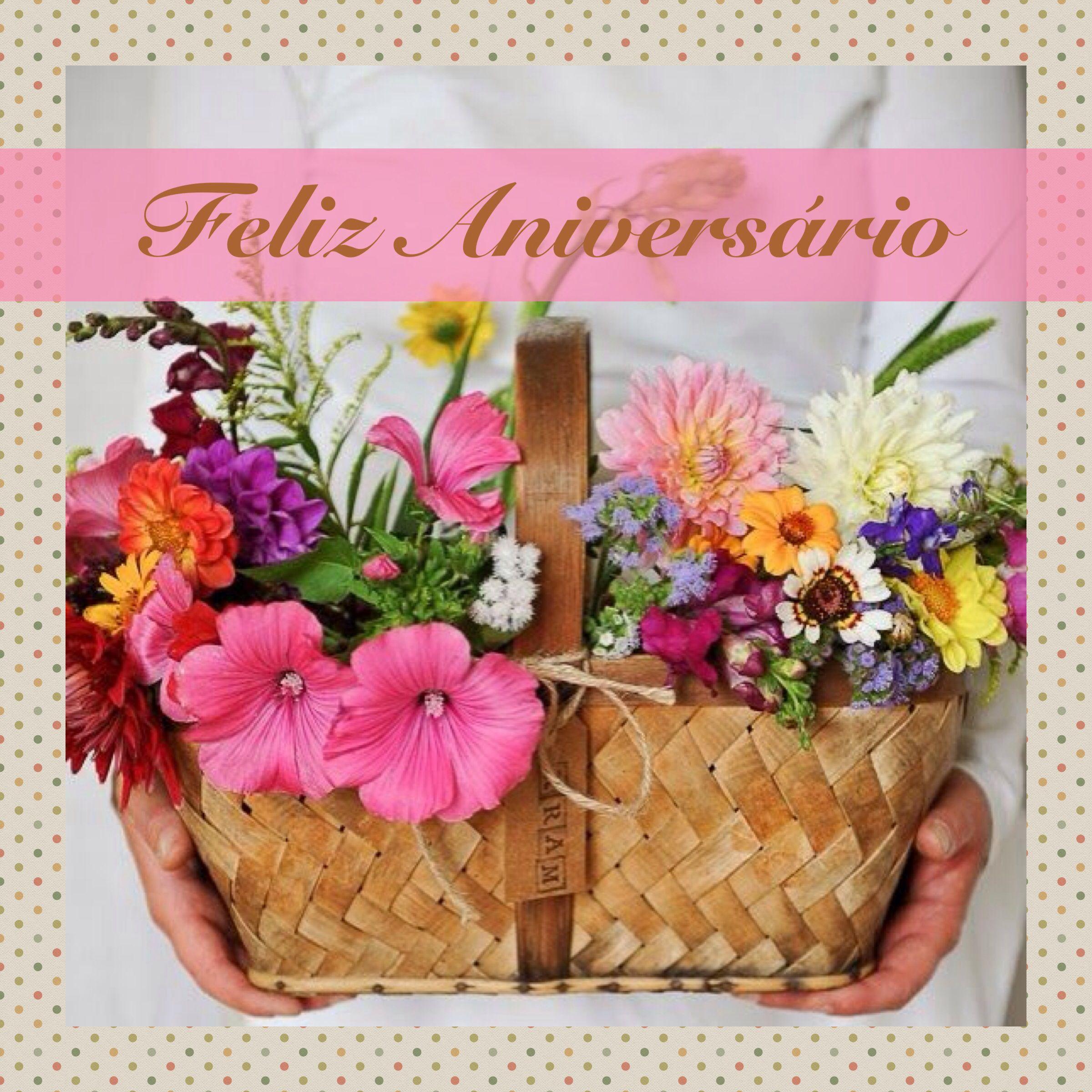 Feliz aniversrio feliz aniversrio pinterest birthday msg and simple spring and summer flowers in bloom izmirmasajfo