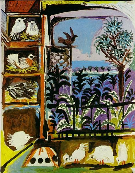 Studio Pigeons Velazquez 1957 Pablo Picasso Wikiart Org Pablo Picasso Art Painting Picasso