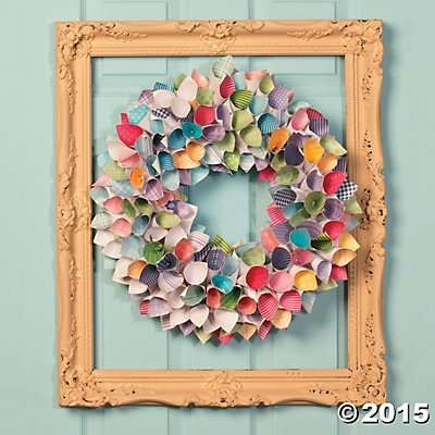 Spring Paper Wreath Idea