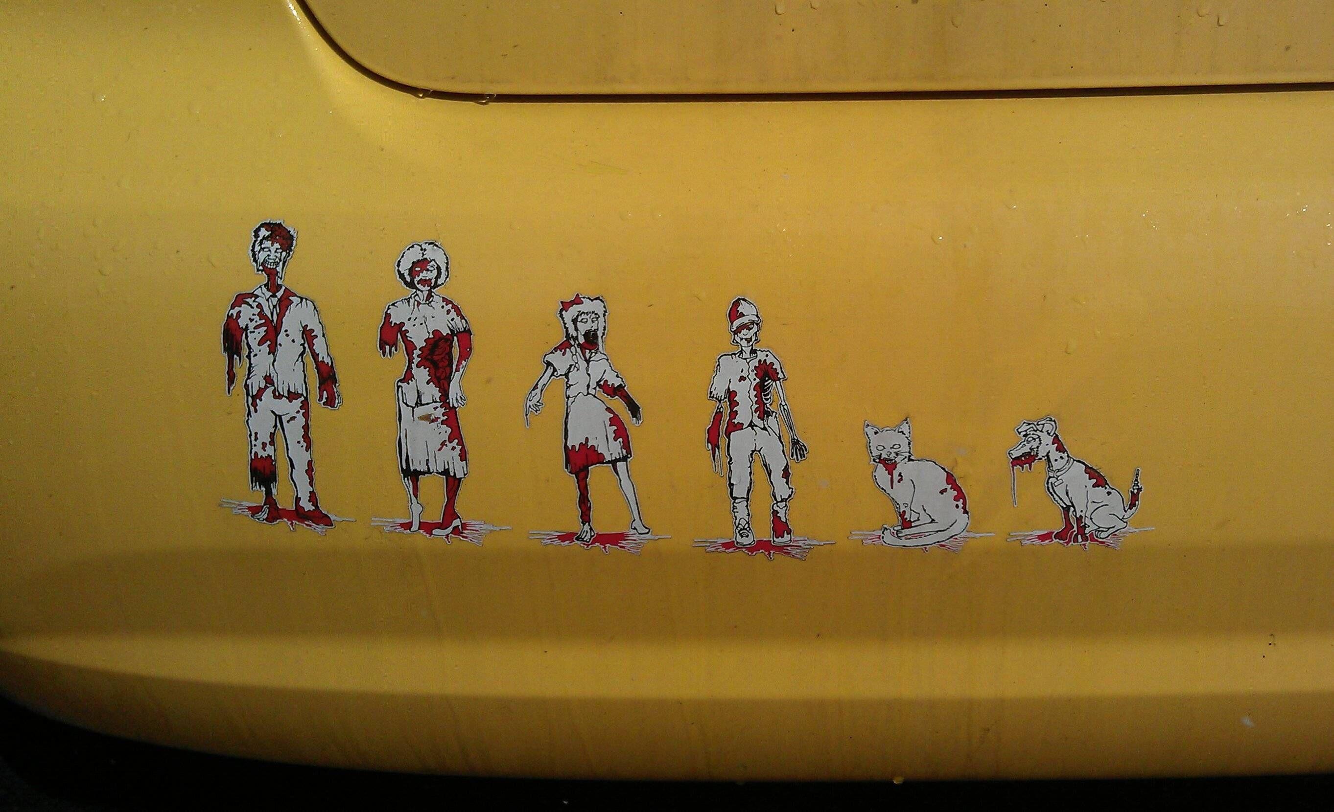 Zombie family stickers!