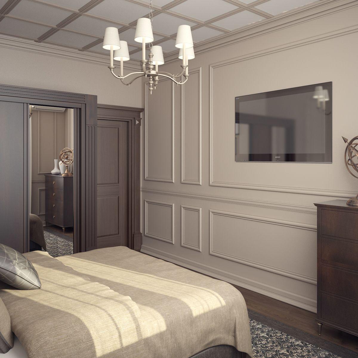 Нежная спальня в классическом стиле 1 Pinterest