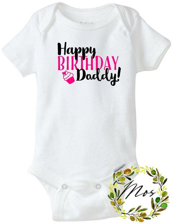 7cfac3025 Feliz cumpleaños papá Body de bebé por ModernOliveStudio en Etsy ...