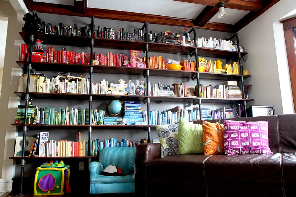 ROYGBIV Pipe Bookshelves