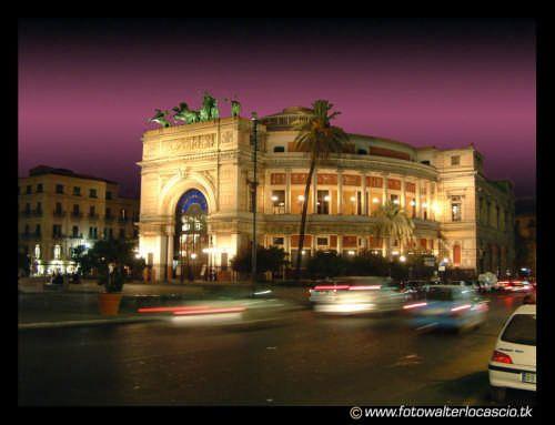 Palermo. Teatro Politeama.  Sicily.