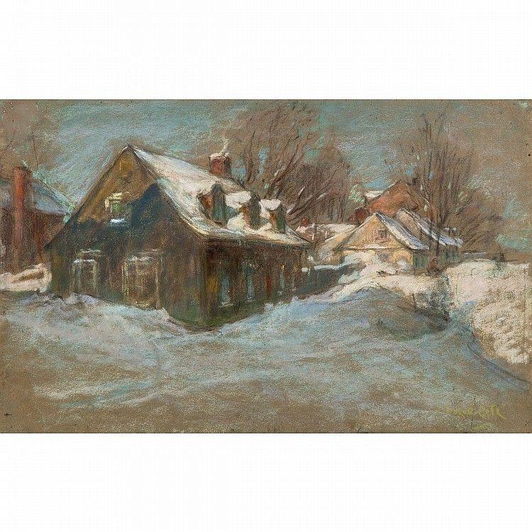 Marc Aurele De Foy Suzor Cote R C A A Street In A Canadia Marc Aurele A Street Painting