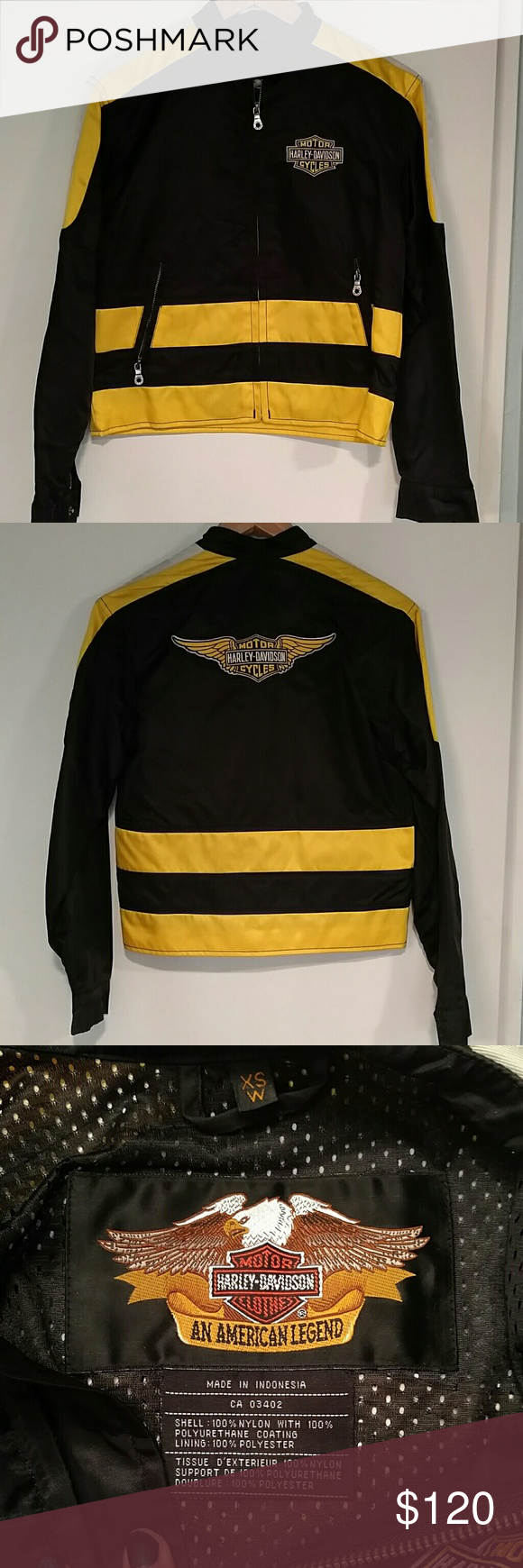 Harley Davidson jacket Lightweight nylon Harley jacket. Perfect condition. Harley-Davidson Jackets & Coats