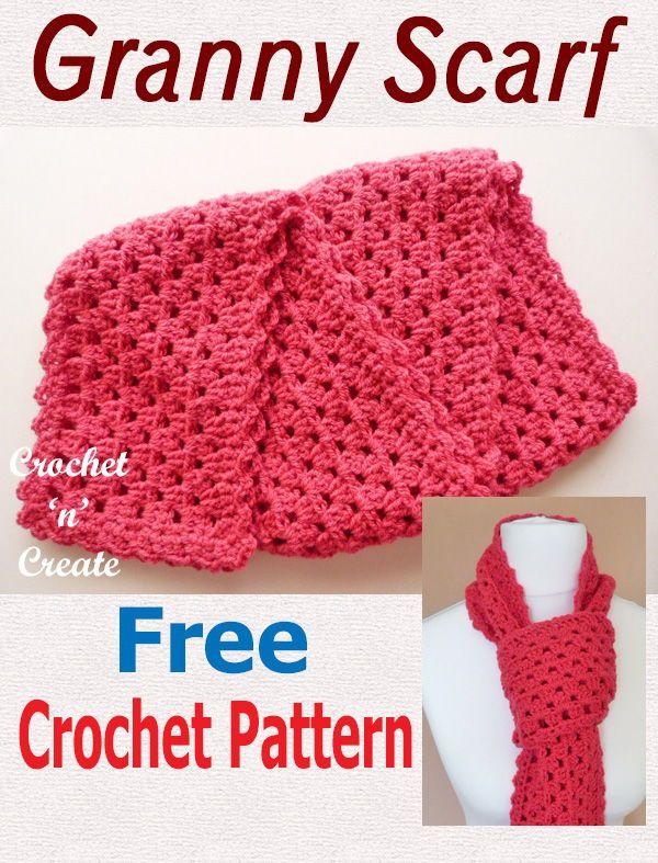 Crochet Granny Scarf Free Crochet Pattern Crochet Pinterest