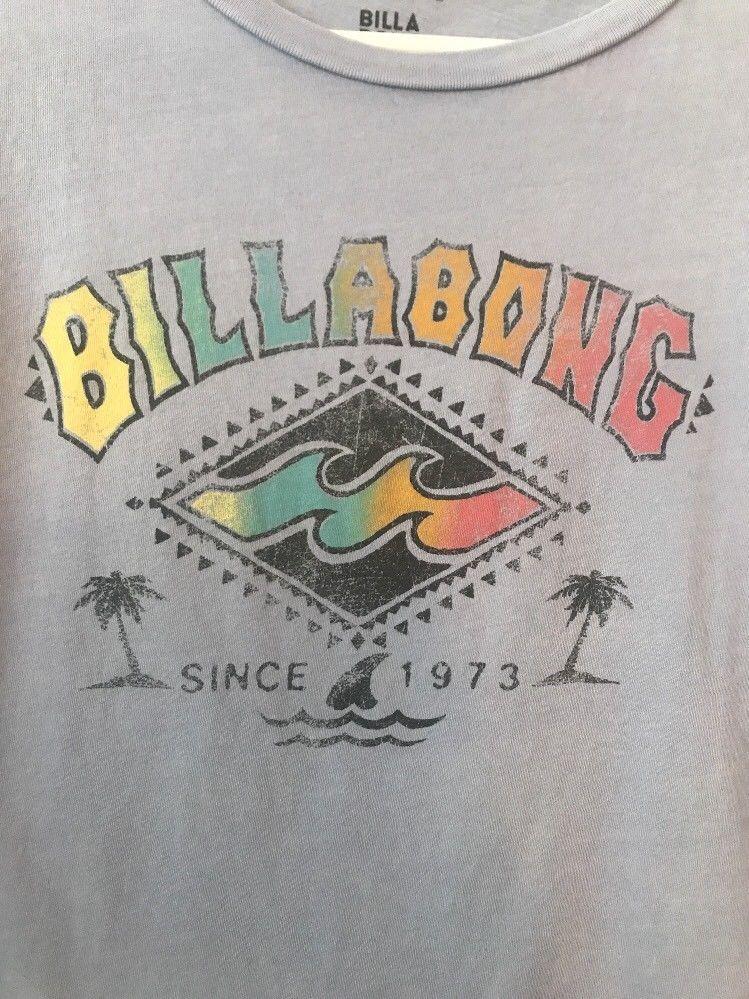 37c81c8bc5e0 billabong t shirt Medium Womens Blue Retro Vintage Graphic Tee #Billabong  #CropTop