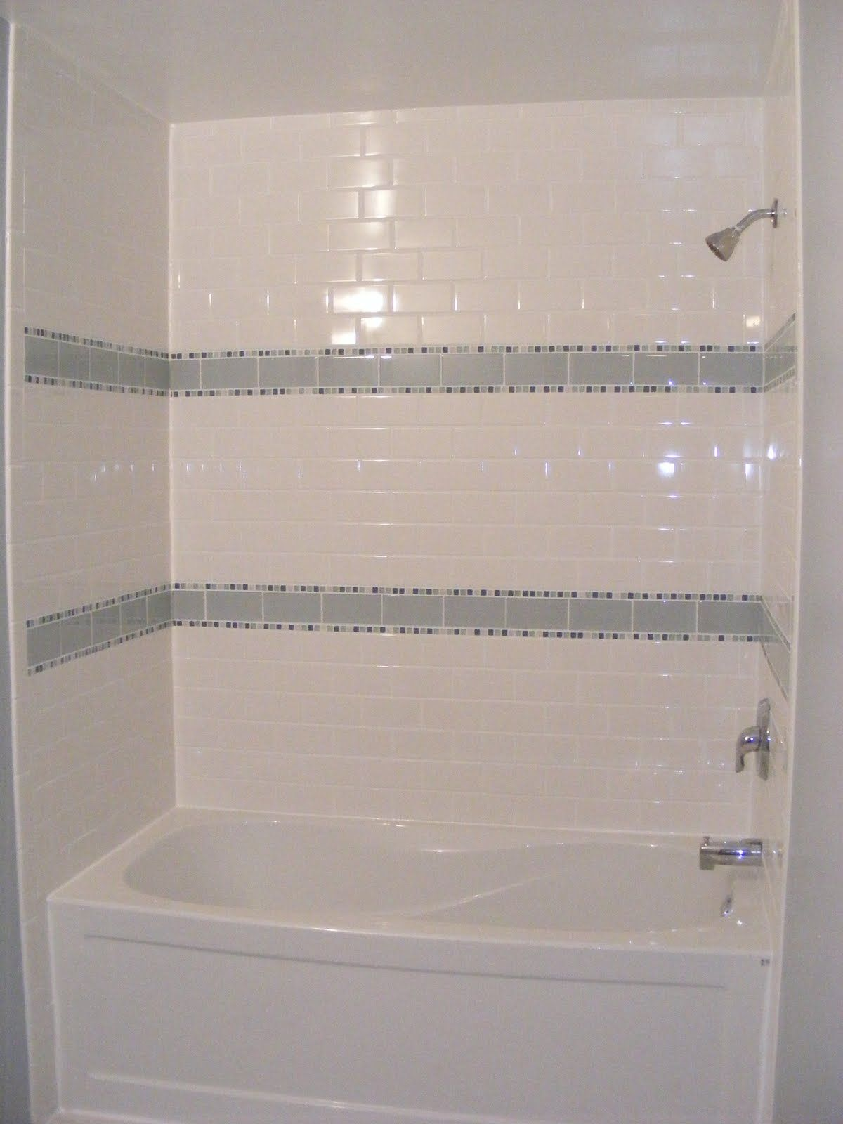 guest bathroom tile ideas. Bathroom Amusing Bath Tile Ideas Beautiful Gloss White Wall Subway Shower Bathtub With Gray Striped Ceramic Decor In Small Guest
