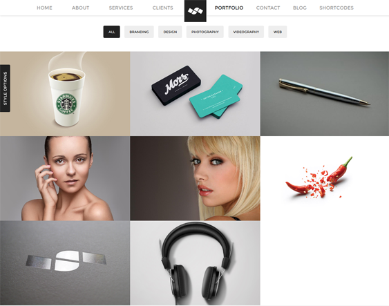This single page WordPress theme has parallax effects, a