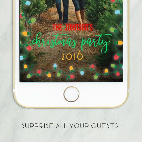 holiday snapchat filter christmas snapchat geofilter christmas party filter personalized snapchat