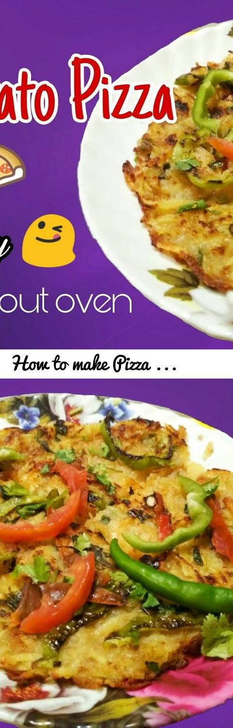 How To Make Pizza Patato Instant And Simple Recipe Tasty Without Oven Cheez Tags At Home Pizz