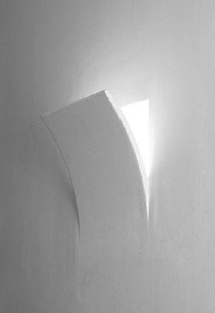 Applique da incasso a parete in gesso potenza 1xe14 max - Applique in gesso da parete ...