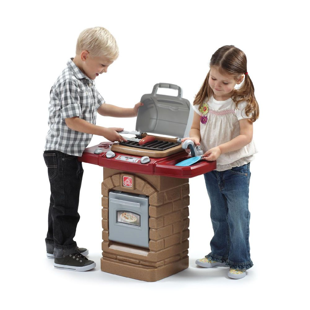 kids outdoor pretend play grill step 2 barbeque cookout fun