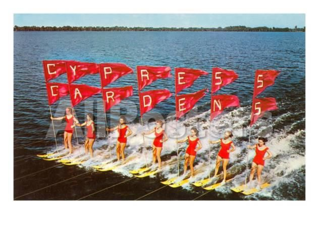 Water Ski Pyramid | Photograph | Wisconsin Historical