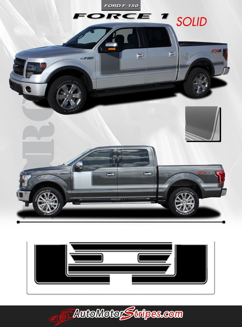 2014 Ford F 150 Stx Configurations : configurations, F-150, Force, Factory, Style, Hockey, Stick, Vinyl, Decal, Graphic, Stripes, F150,, Ford,, Truck, Accessories