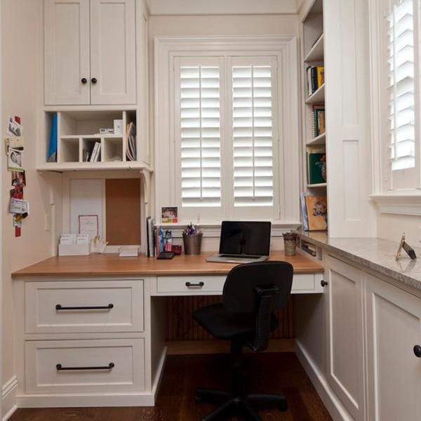 Space Saving Built In Office Furniture In Corners Personalizing Modern Interior Design Small Home Offices Office Interior Design Small Home Office
