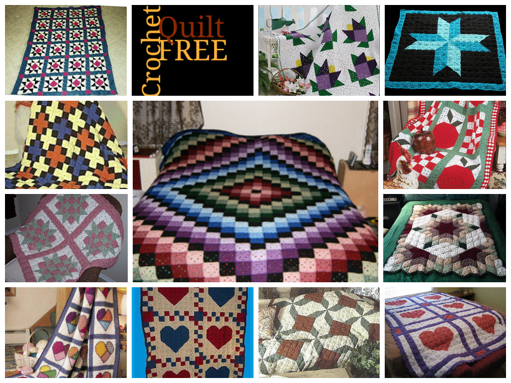 Middle one is nice | Free Crochet Quilt Patterns | Crochet ...