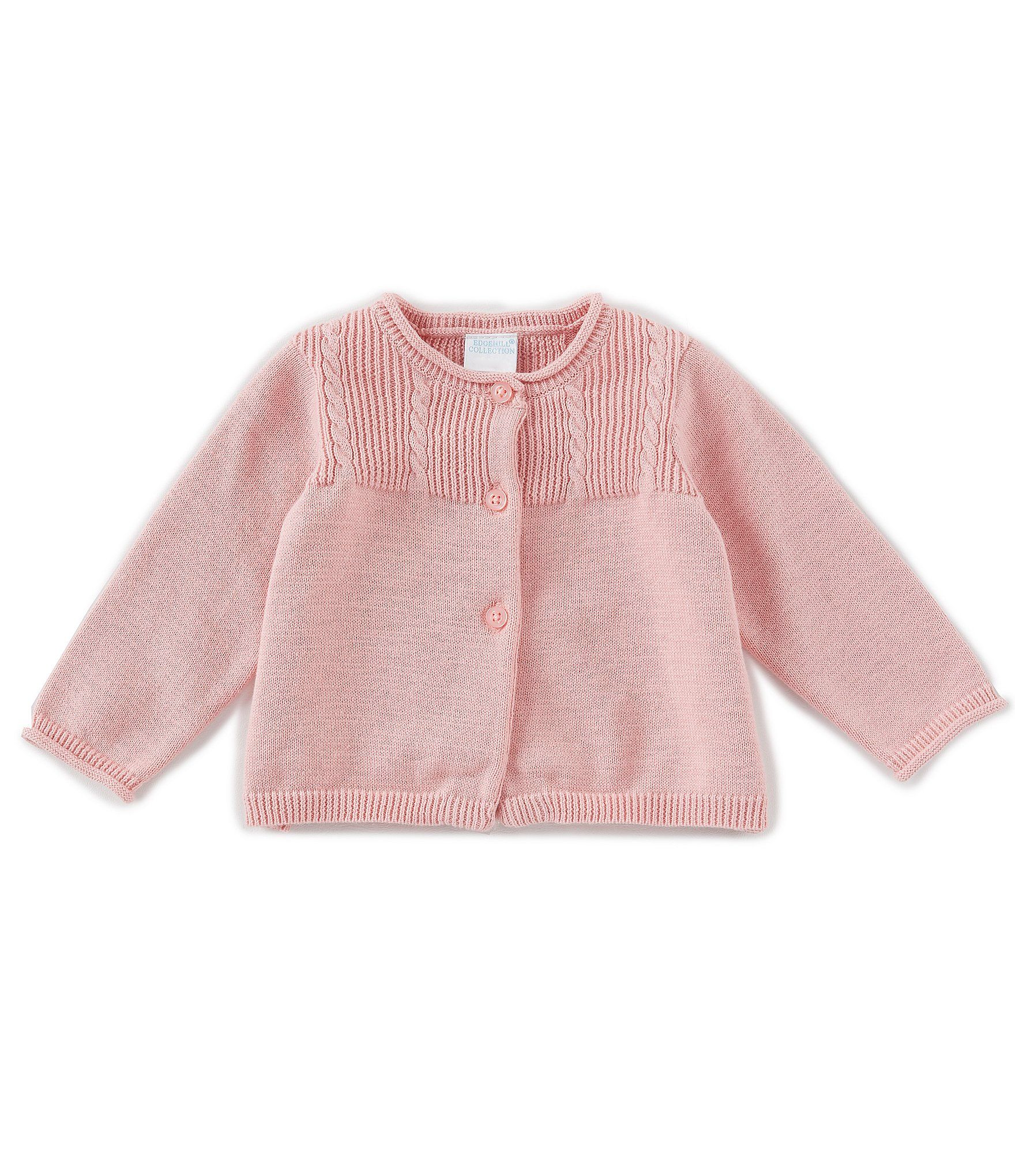 Photo of Edgehill Collection Baby Girls Newborn-24 Months Cable-Knit Sweater Cardigan – Pink 18 Months
