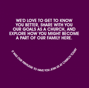 Ideas For Church Visitor Follow Up  Church Ministry Ideas