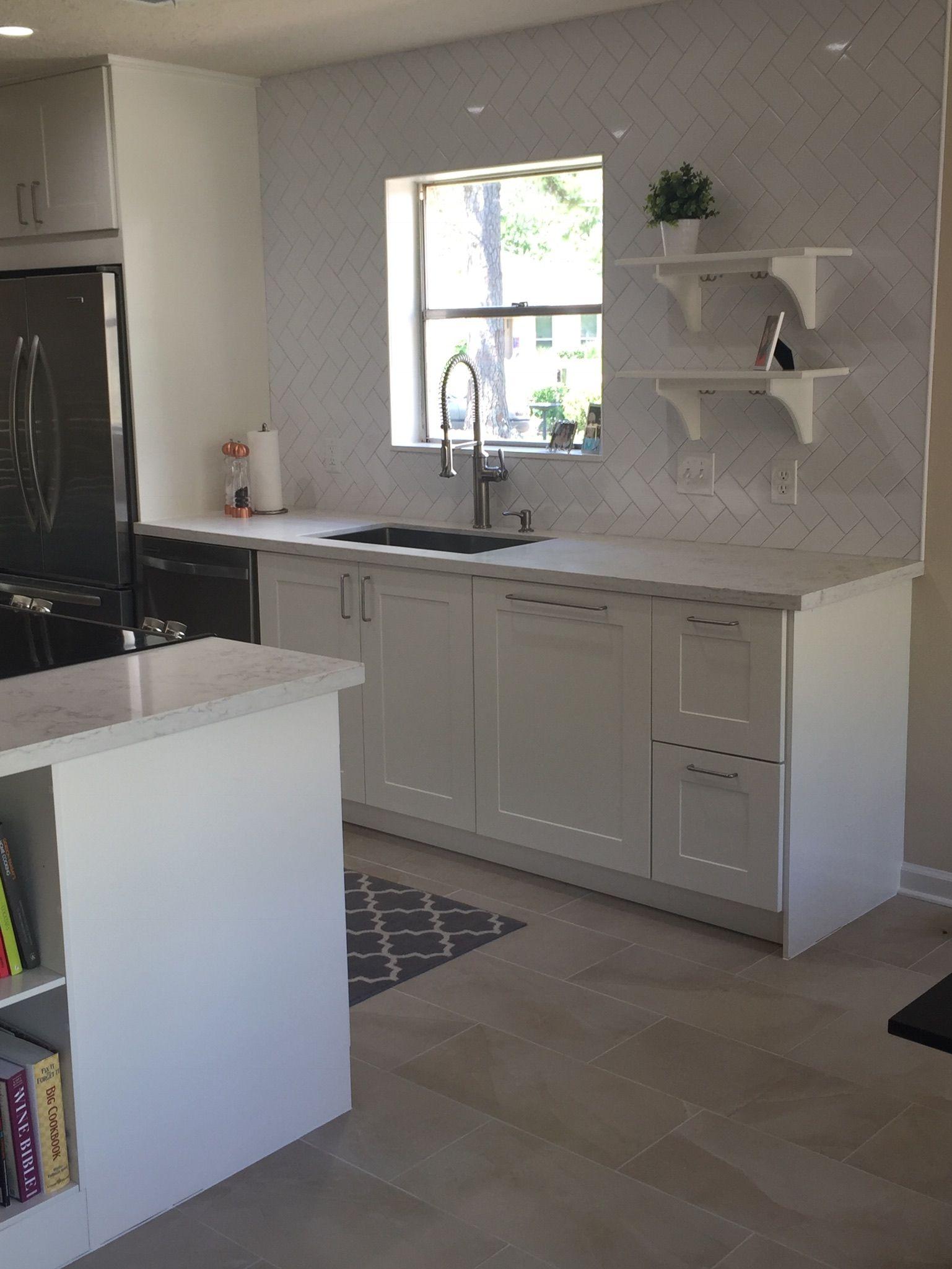 Best Ikea Grimslov Off White Cabinets Kohler Faucet Open 400 x 300