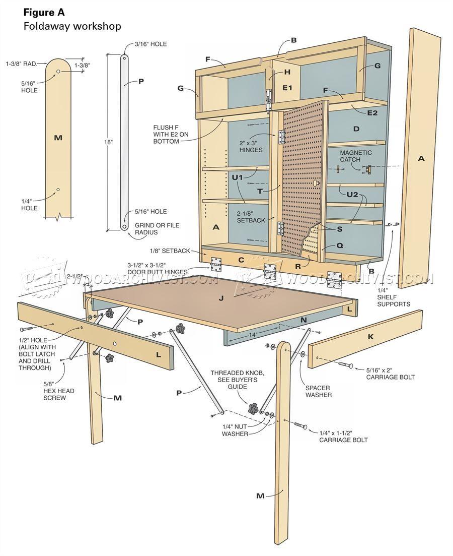3234 Fold Down Workbench Plans