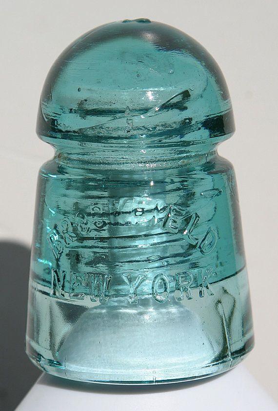 Antique Vermont Rare Insulator Cd 104 Threaded Glass