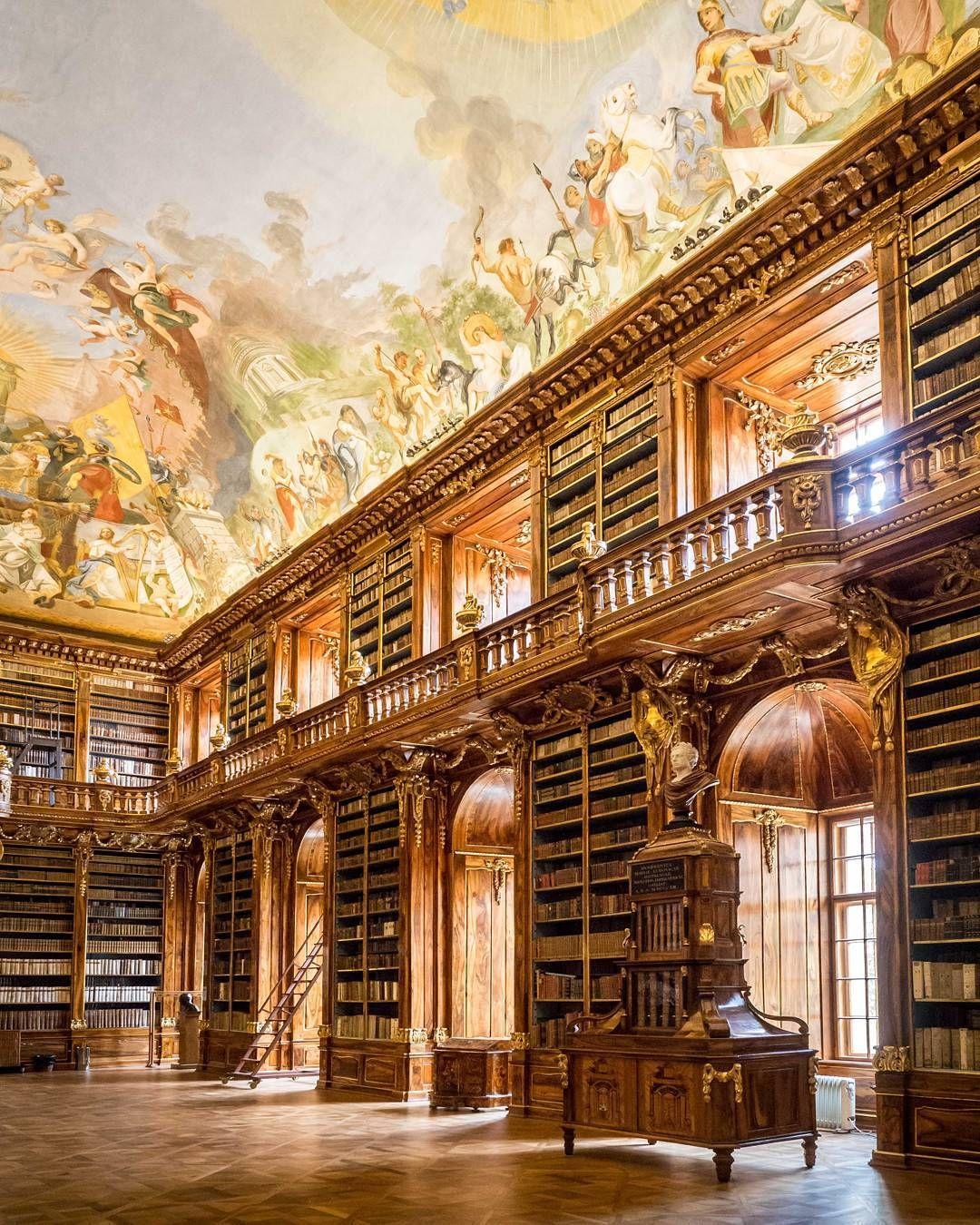Strahov Monastery Library in Strahov. Czech Republic #Regram via @ottica_prisma_ferrara | House styles. Instagram. Prague