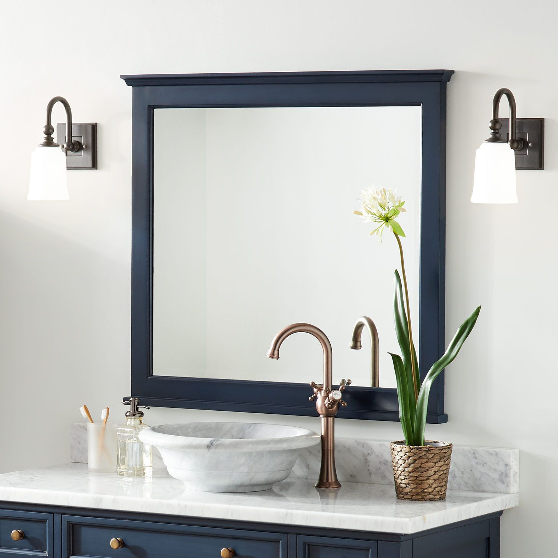 Keller Mahogany Vanity Mirror Vintage Blue Bathroom Bathroom Mirror Blue Bathroom Mirrors Framed Bathroom Mirror [ jpg ]