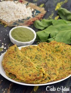 Oats adai oats spinach pancake recipe by tarla dalal tarladalal oats adai oats spinach pancake recipe by tarla dalal tarladalal forumfinder Choice Image