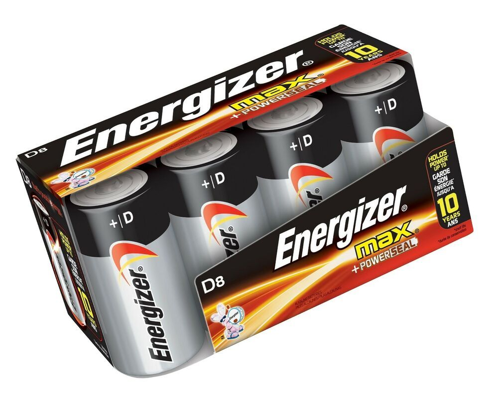 Energizer D Cell Batteries Max Alkaline D Battery Size 8 Count Clear 11 45end Date Jun 24 07 35buy It Now For Energizer Battery Sizes Energizer Battery