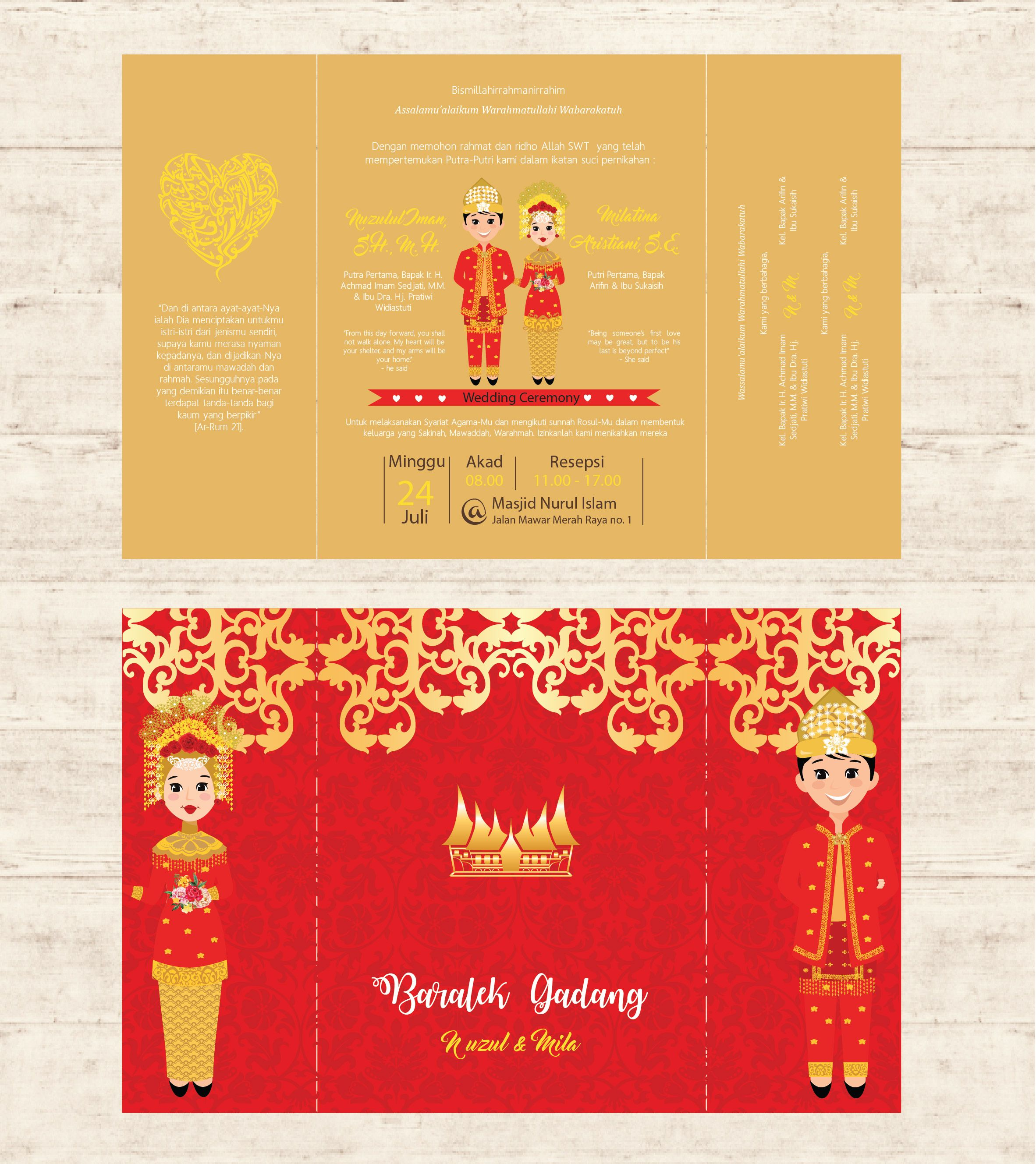 undangan traditional adat minang | traditional wedding invitation ...