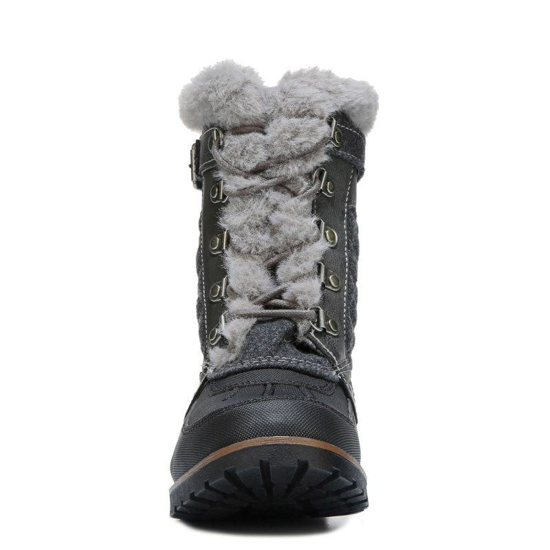 Rock & Candy Kids' Danlea Lace Up Boot Pre/Grade School Boots (Dark Grey)