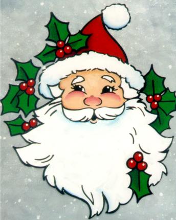 free craft painting patterns sweet santa claus face painting pattern - Free Santa Claus