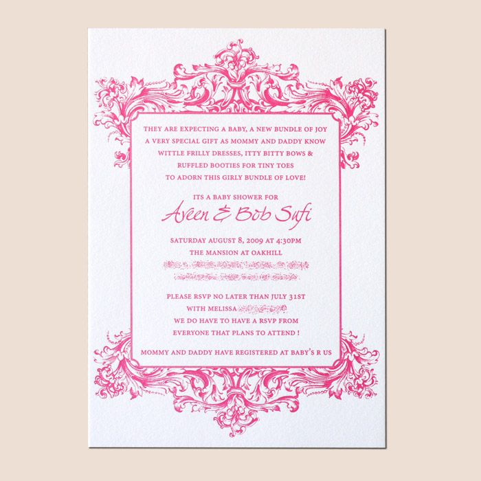 Sample Baby Shower Invitations | Children are our Future | Pinterest ...