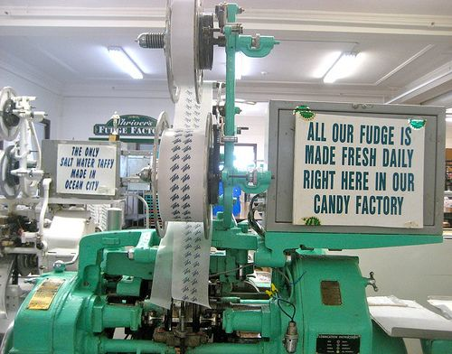 Shriver S Salt Water Taffy Wrapping Machine Ocean City